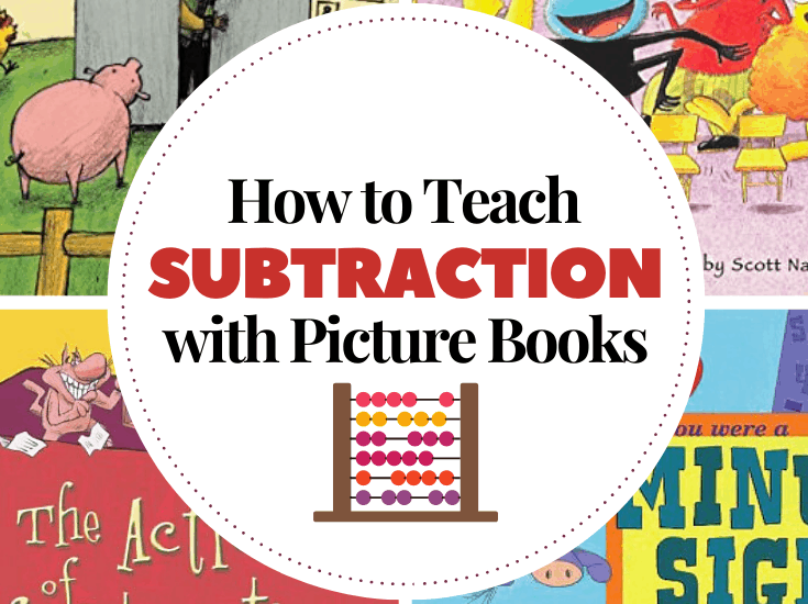 You can teach subtraction with picture books! They're perfect for reinforcing subtraction concepts and introducing word problems with real world scenarios.