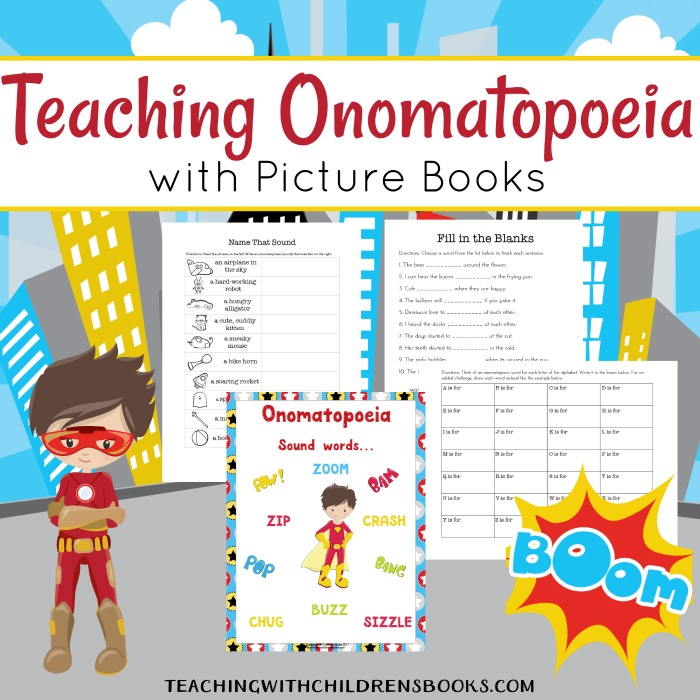 How to Teach Onomatopoeia with Picture Books {FREE Printables}