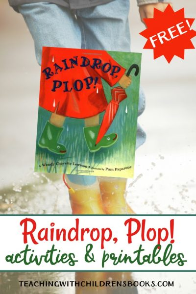 Raindrop Plop is a great book to read on a rainy day. Afterward, try a few of these hands-on activities and printables to extend the fun!