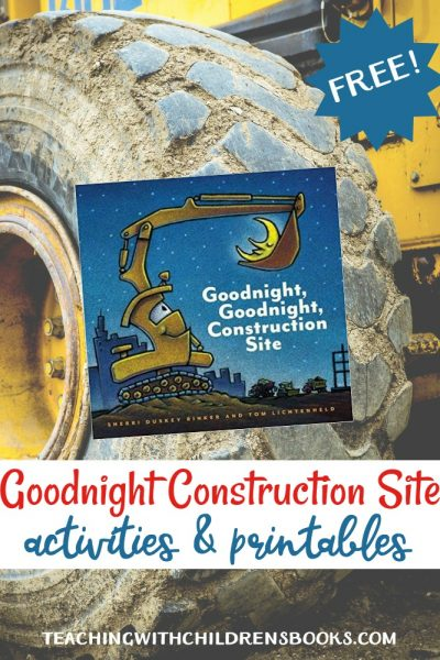 Your young learners will love this new construction site themed printable to go along with Goodnight Goodnight Construction Site!