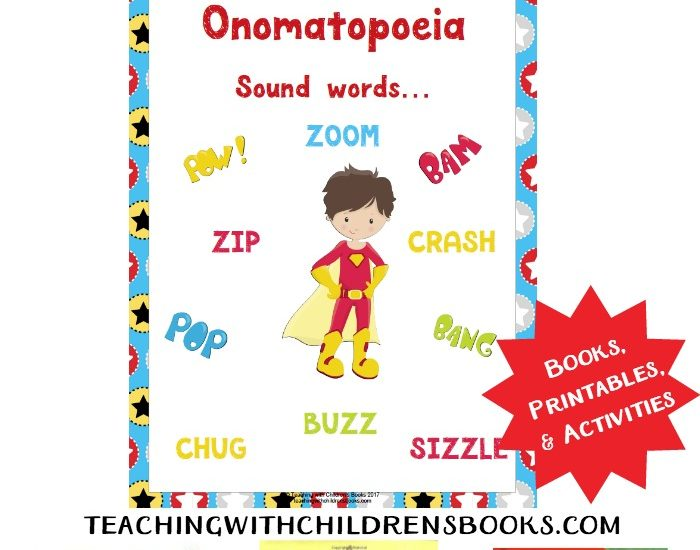 Onomatopoeia is such a fun language arts topic to teach! This collection of books and printables is sure to make your lesson POP!