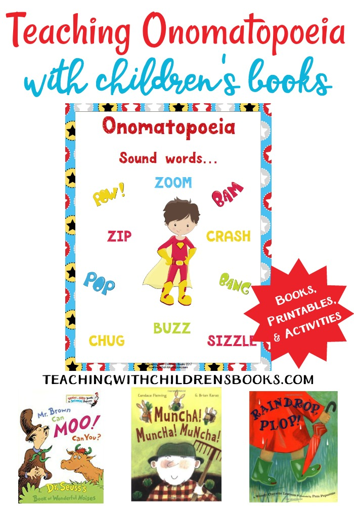 How To Teach Onomatopoeia With Books. Onomatopoeia Is Such A Fun Language Arts Topic To Teach This Collection Of Books And. Worksheet. Onomatopoeia Worksheet Year 6 At Mspartners.co
