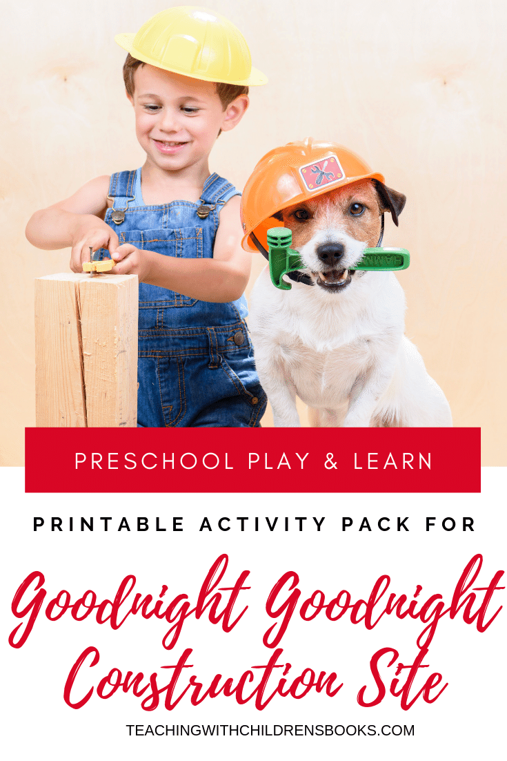 Download this Goodnight Goodnight Construction Site activities pack today! Focus on early math and literacy skills for preschool and kindergarten.