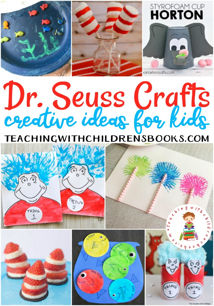 After reading your child's favorite Dr. Seuss book (for maybe the hundredth time), let them try their hand at making one of more of these Dr Seuss crafts.