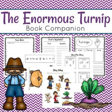 This book companion is full of activities to use with The Enormous Turnip. They are lots of fun and will keep your students engaged in extending the lesson.