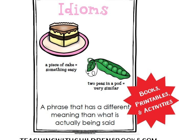 This wonderful collection will help you teach idioms with picture books.Use picture books (and my free printables) to illustrate idioms!