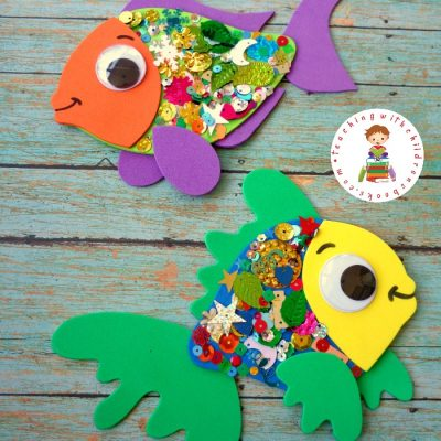 The Rainbow Fish Craft with Confetti