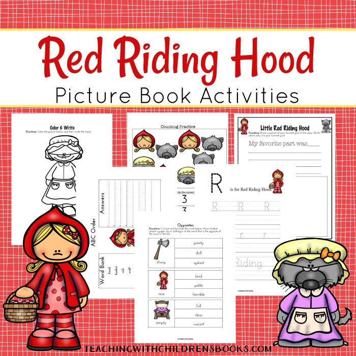 Bring the story to life! These Little Red Riding Hood printables include literacy activities for early childhood classrooms.