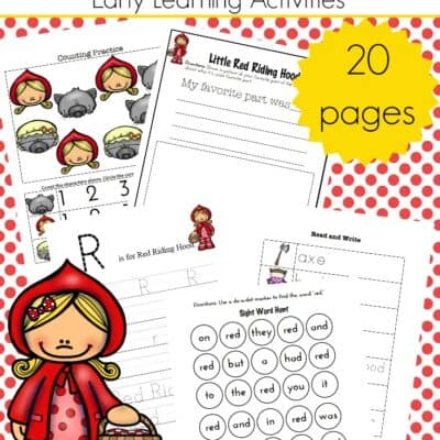 Little Red Riding Hood Printables and Activities