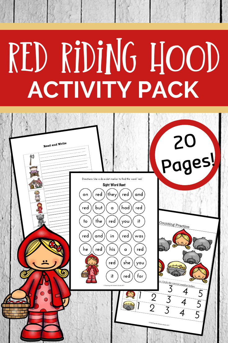Download these Little Red Riding Hood worksheets. They'll help you and your students dig deep into this classic fairy tale for kids.
