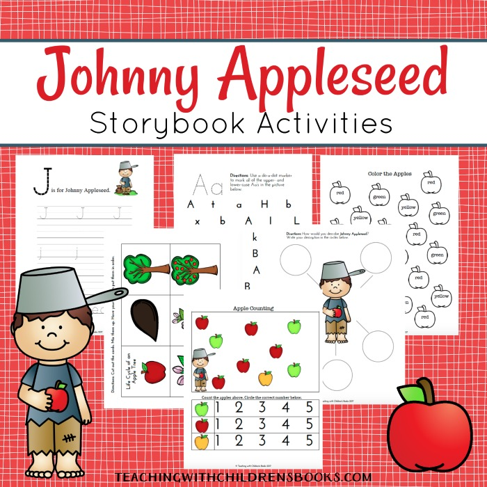 picture relating to Johnny Appleseed Printable Story identify Johnny Appleseed Printables and Arms-Upon Pleasurable for Youngsters