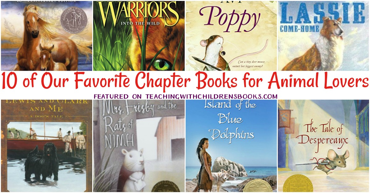 Whether it's non-fiction readers about animals or chapter books with animal characters, here are a few of our favorite chapter books about animals.