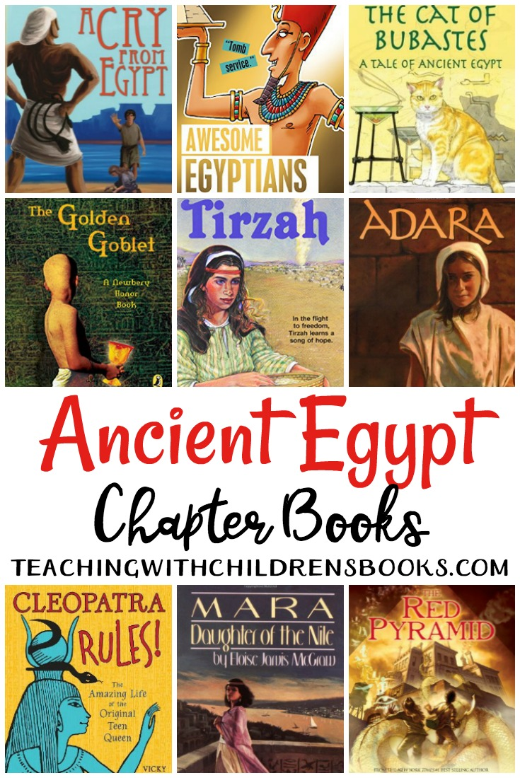 Looking for some great books about Ancient Egypt? Check out this living books list that is full of Ancient Egypt chapter books for older kids!