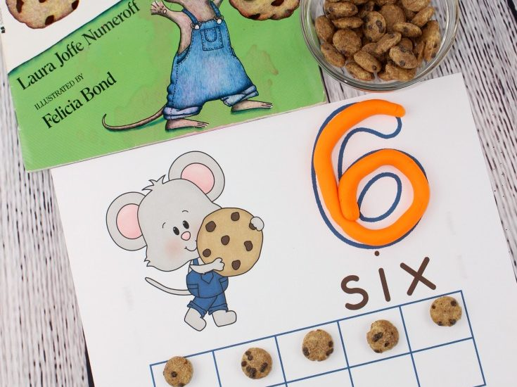 These If You Give a Mouse a Cookie inspired counting mats are a fun way for children to practice counting from 1 to 10.