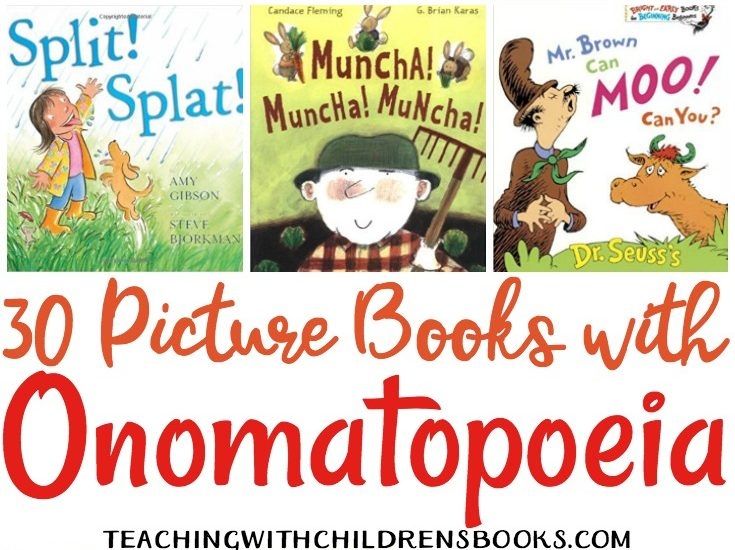 This collection of picture books with onomatopoeia are perfect for your upcoming lessons. Students will see and hear onomatopoeia in action!