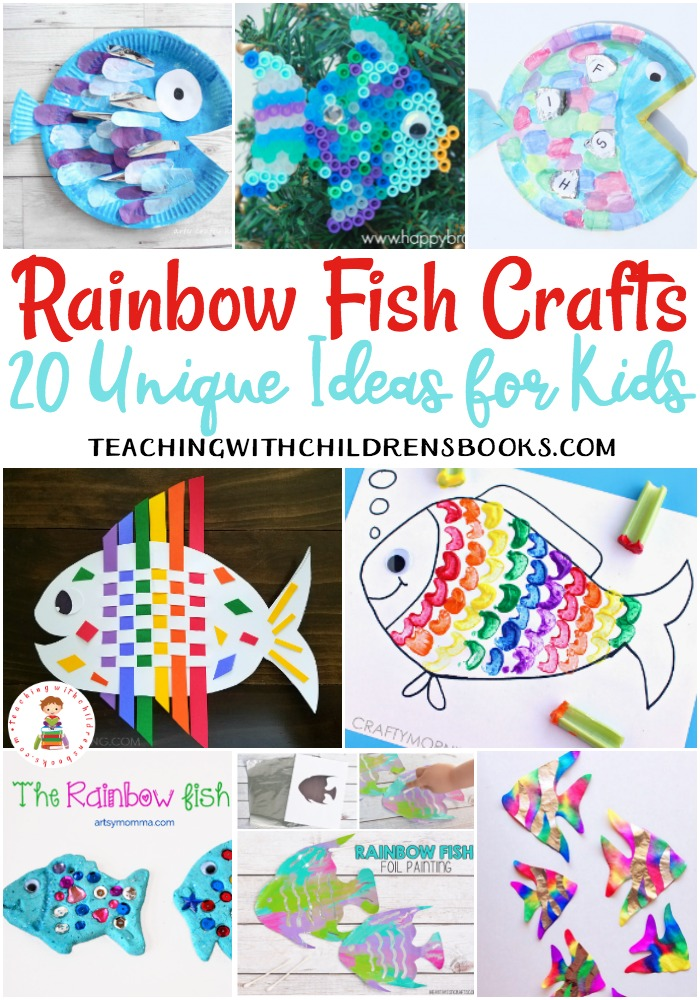 These Rainbow Fish crafts for kids work on fine motor skills, creativity, hand-eye coordination, and much more! Perfect for preschool through grade 2.