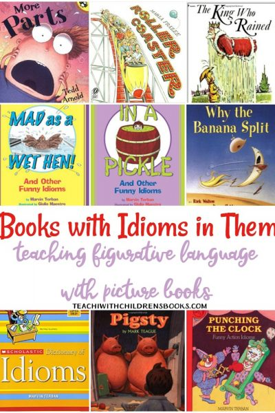 Idioms ca be tricky for young readers (and those learning ESL). This collection of funny picture books with idioms in them will help make the meanings clearer.