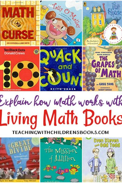 Living math books explain how math works. These are the best living books for preschool and elementary math.