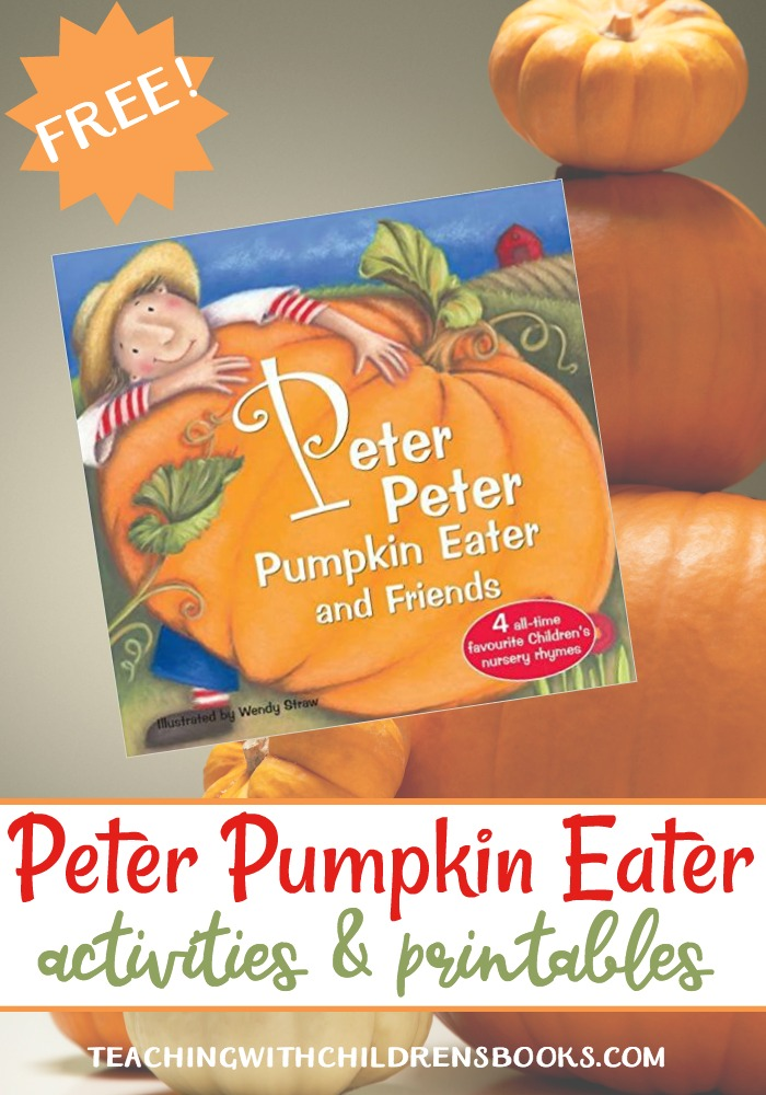 Preschoolers love nursery rhymes and can learn so much from them. This printable based on Peter Peter Pumpkin Eater is perfect for your fall lessons.