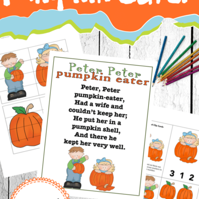 Peter Peter Pumpkin Eater Printable
