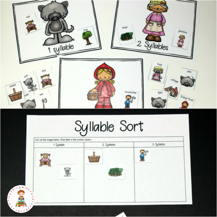 Your students will LOVE working on syllables, CVC words, and more with these Little Red Riding Hood literacy activities. Perfect for your literacy centers.