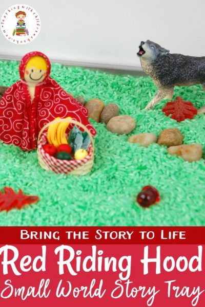 Bring the story to life with a Little Red Riding Hood sensory activities story tray! All you need is a few items and some creativity to put it together.