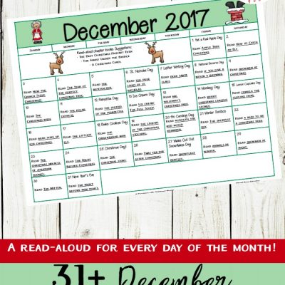 December Read Aloud Picture Books Calendar