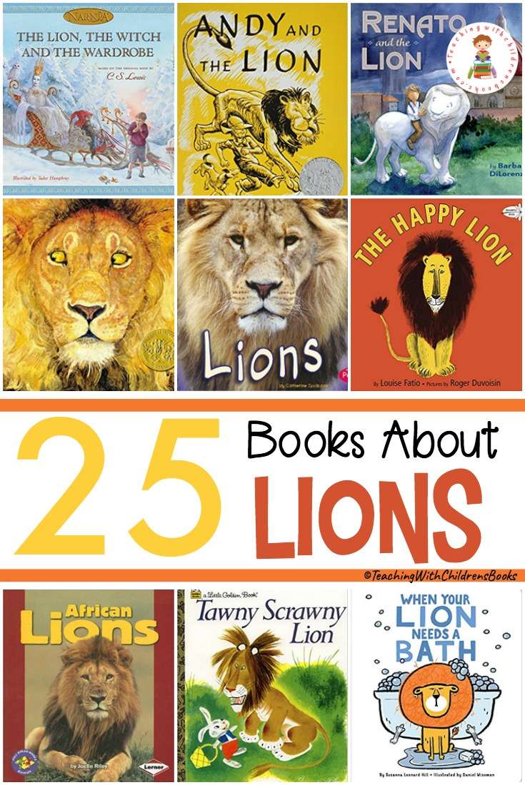 Check out this list of fiction and nonfiction books about lions. They're the perfect addition to your study of the zoo, Africa, or animals in general!