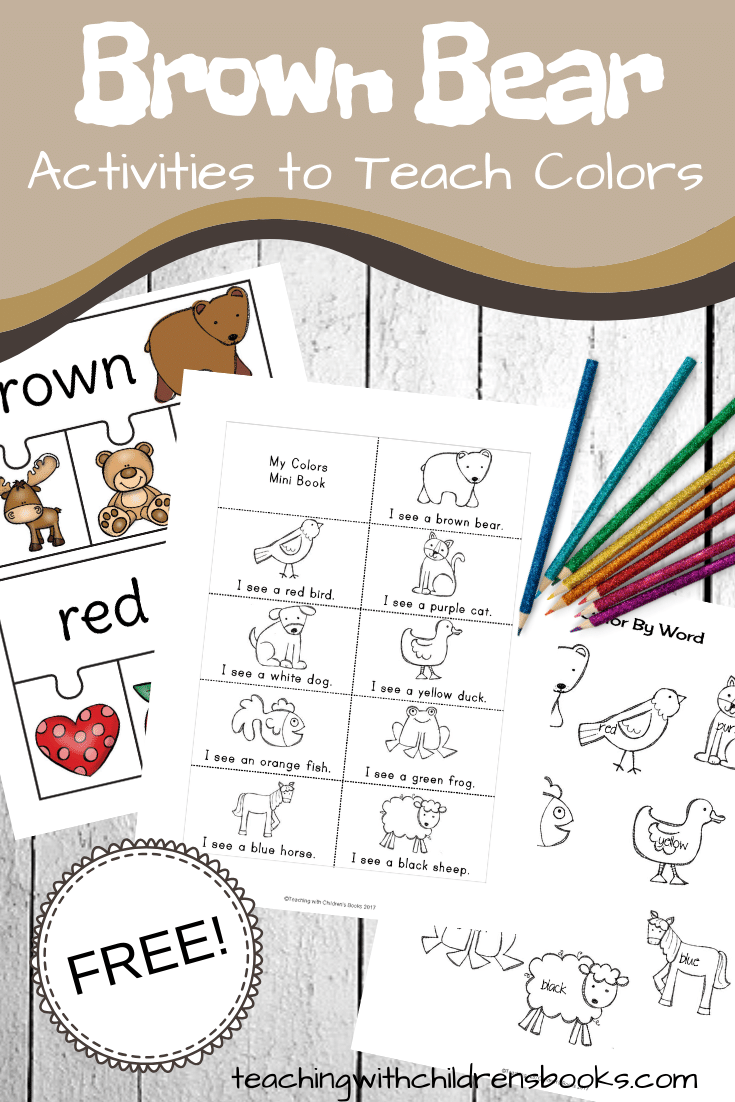 What could be more fun than learning colors with these Brown Bear Brown Bear activities? They're perfect for your toddlers, preschoolers, and young learners.