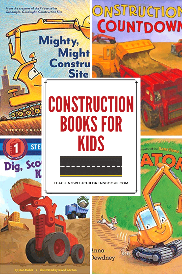 Do your kids love tractors, big trucks, and construction vehicles? If so, they're going to love this collection of construction books for kids!