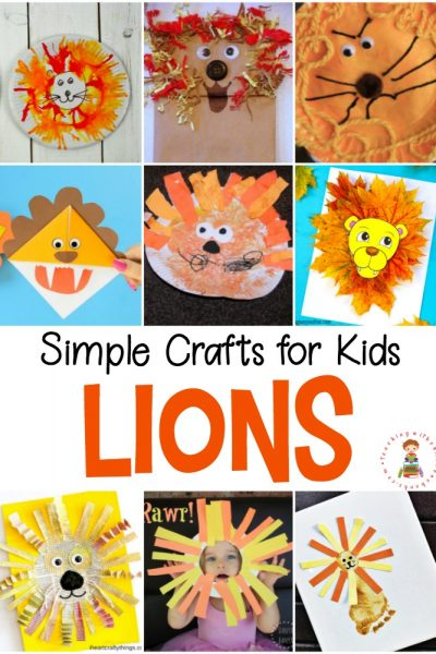 No matter which lion books are in your book basket, these easy lion crafts for kids will make the perfect follow-up activity!