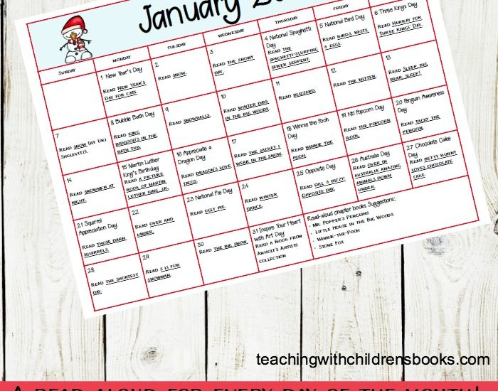 Books and activities to celebrate all month long! This January read aloud book and activity calendar is perfect for preschool and elementary classrooms.