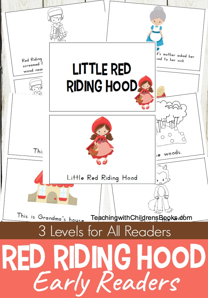 graphic regarding Little Red Riding Hood Story Printable named No cost Printable Tiny Purple Using Hood Mini E-book Fixed
