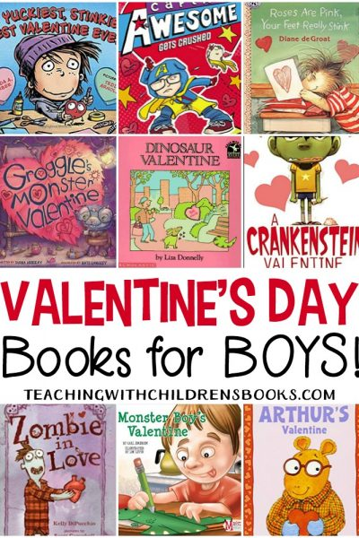 There are no mushy-gushy books on this list. Your guys will love these Valentines Day books for boys. Monsters, zombies, and stinky feet are featured in this list!