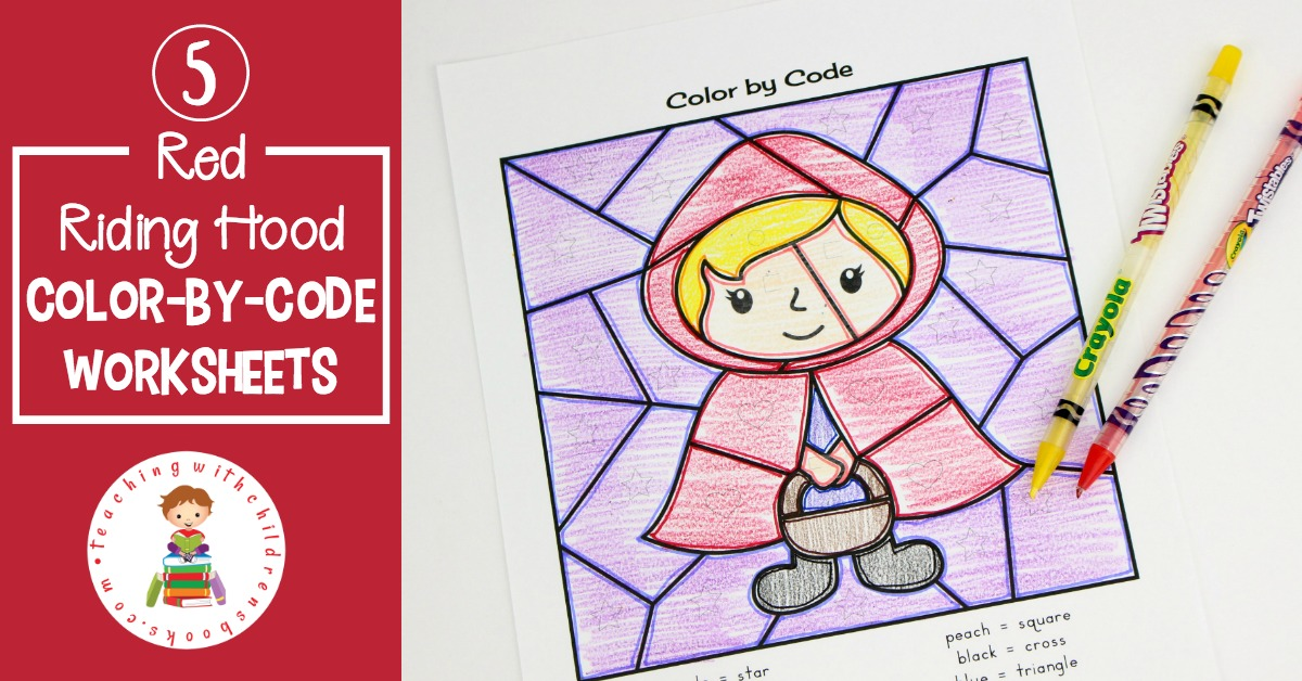 This set of Little Red Riding Hood story printable color by code worksheets are a great addition to your fairy tale unit studies. Available in a range of difficulties.