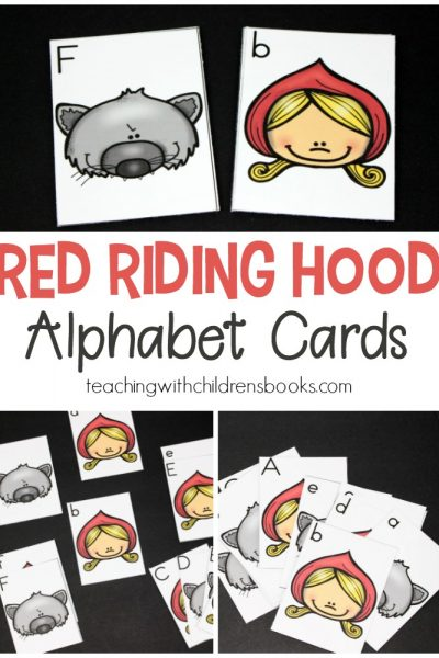 Are you looking for a fun hands-on activity to practice letter identification and matching uppercase and lowercase letters? These Little Red Riding Hood printable alphabet cards are perfect!