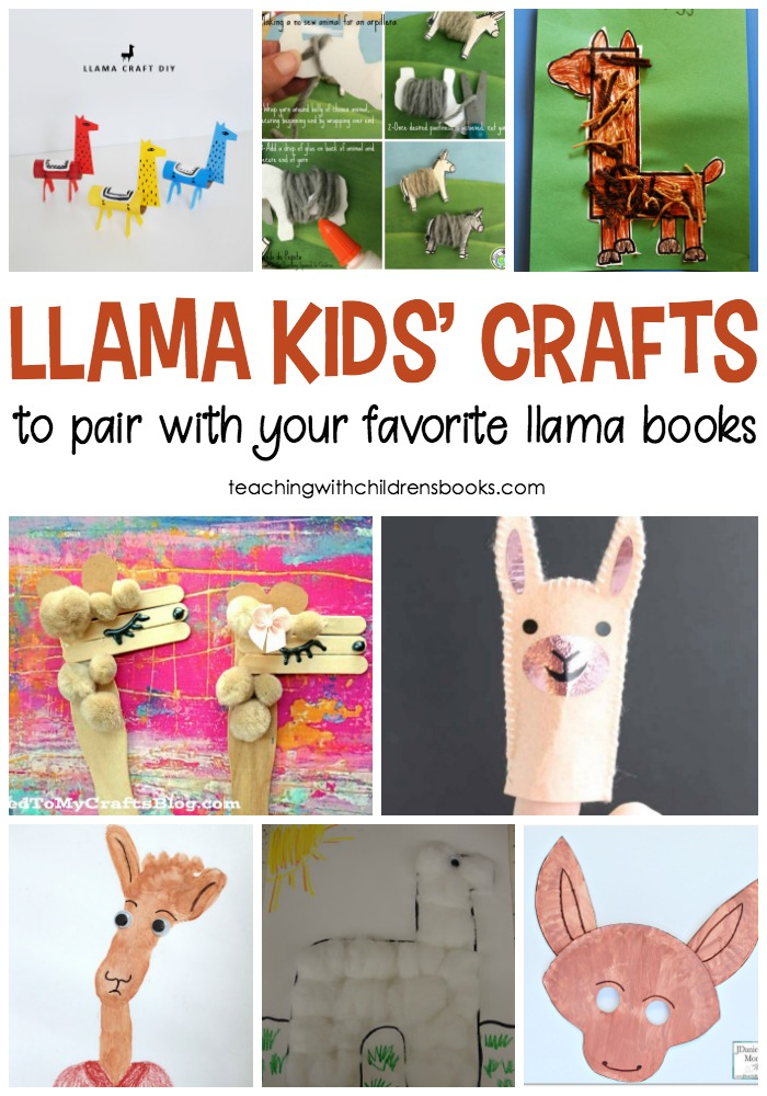 Arts and crafts are a great way to extend the fun of your favorite books. Choose one or more of these fun llama crafts to pair with your favorite llama books for kids!