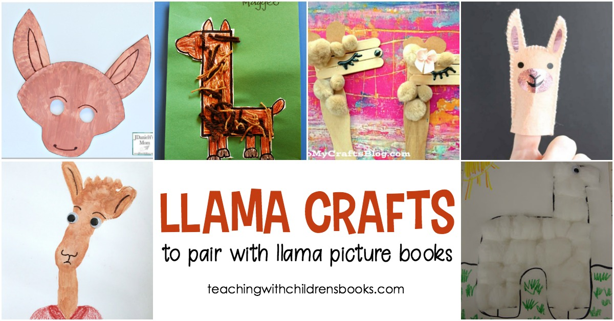 Llama crafts for kids to pair with your favorite llama books for Children s craft books