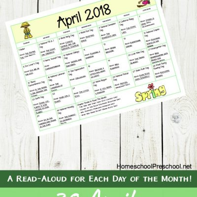 April Picture Book Read Alouds Calendar
