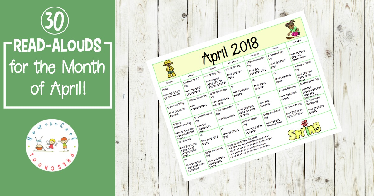 What a great collection of books and activities to celebrate all month long! Grab a copy of this calendar featuring read alouds and activities that are perfect for preschool and elementary classrooms.
