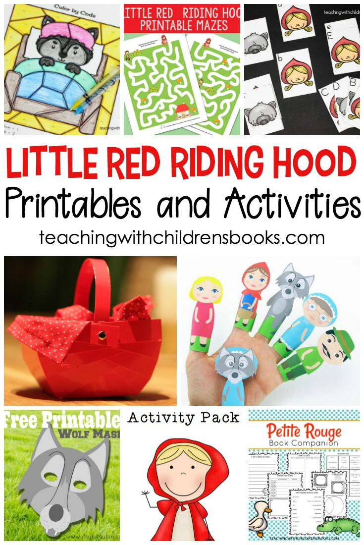 photo regarding Little Red Riding Hood Story Printable called 15 Tiny Purple Driving Hood Tale Printable Actions for Small children