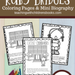 This Ruby Bridges coloring page packet features a 6-page mini biography. This no fuss, no prep booklet is an engaging way to teach kids about Ruby Bridges.