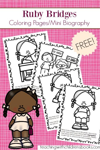Free Ruby Bridges Coloring Page Packet