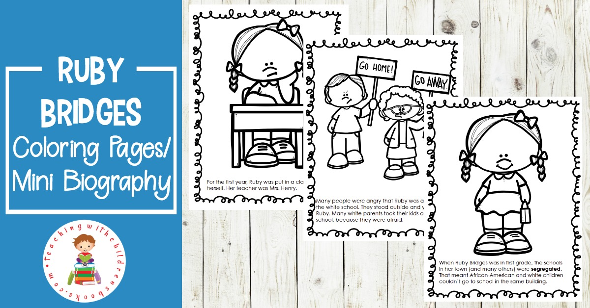 Free Printable Ruby Bridges Coloring Page Packet