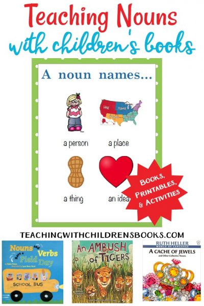 Teaching parts of speech is a must for a good grammar foundation. This collection of picture books and printables will help make teaching nouns easier!