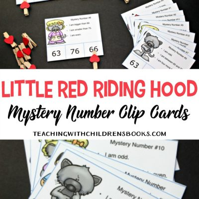 Little Red Riding Hood Story Printable Mystery Number Cards