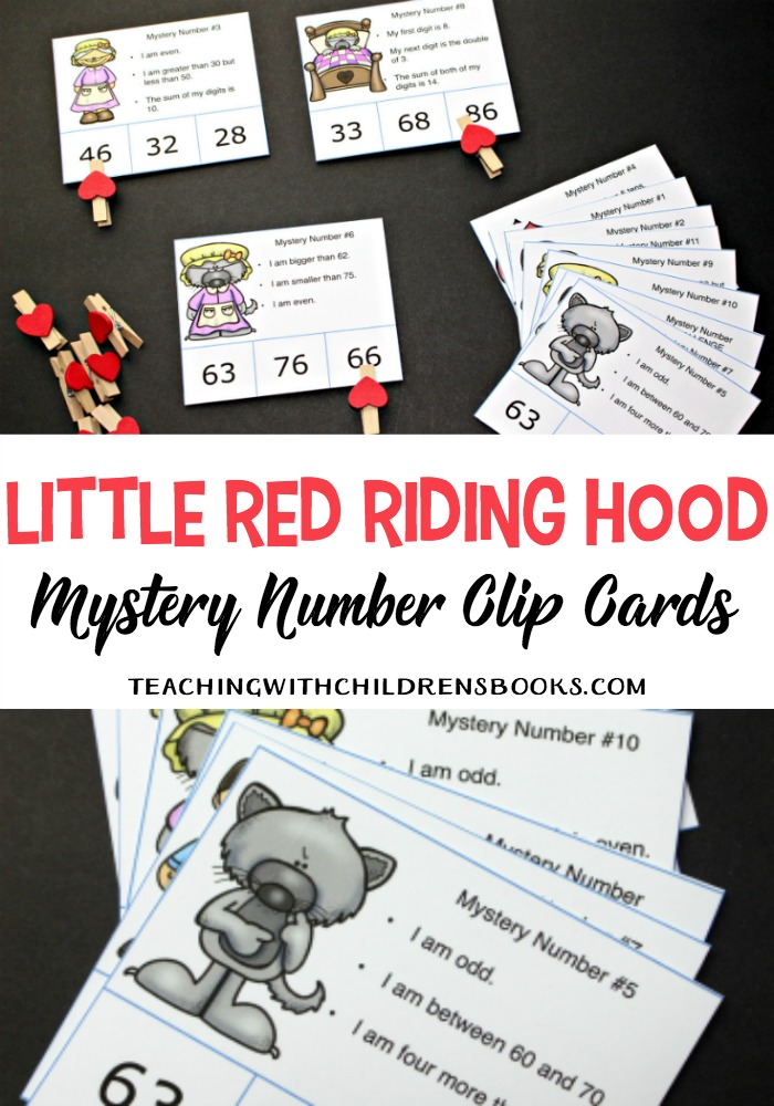 photo regarding Little Red Riding Hood Story Printable called Minimal Crimson Using Hood Tale Printable Secret Quantity Playing cards