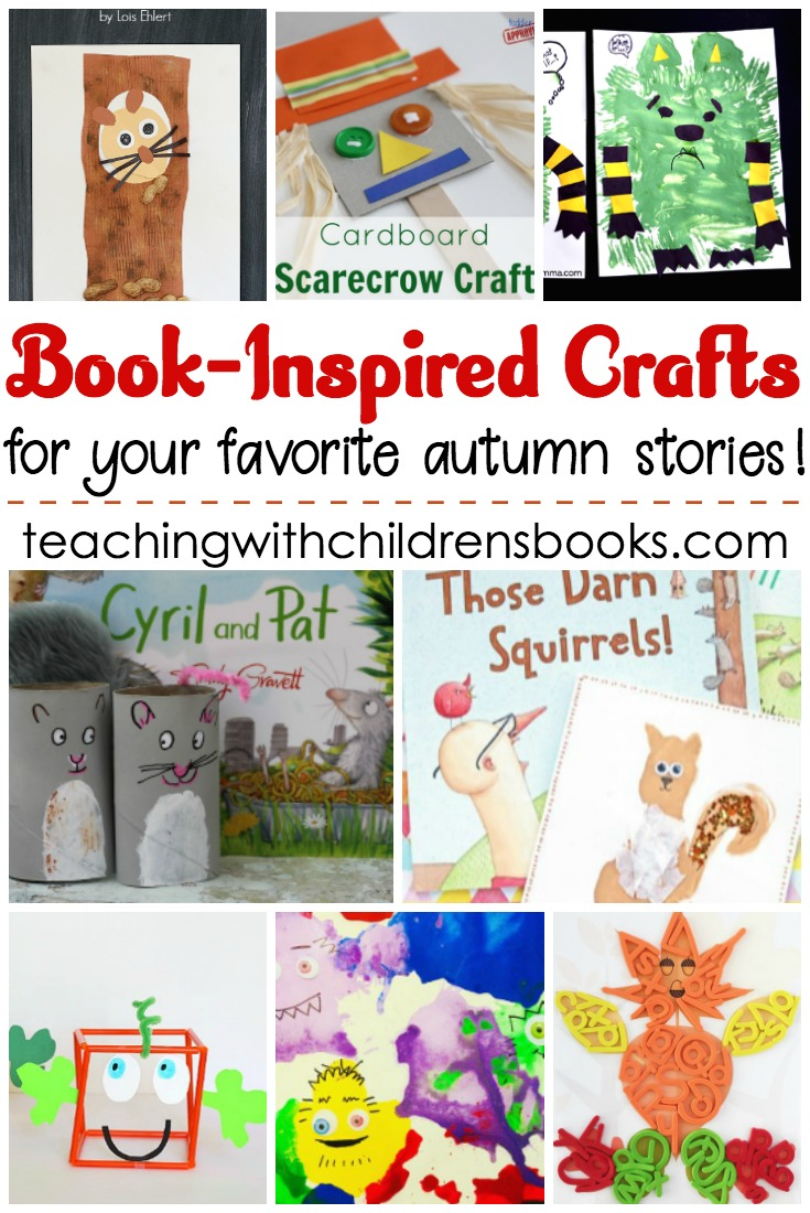 Inspire young readers with these book inspired crafts for autumn. From squirrels and leaves to pumpkins and turkeys, we've got it all on this list!
