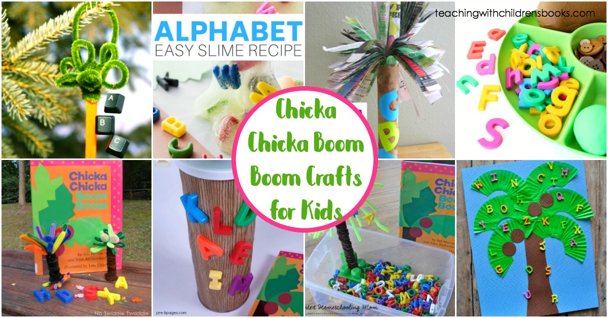 Young readers will love these Chicka Chicka Boom Boom crafts for kindergarten and preschool kiddos! Bring the story to life with these hands-on activities.