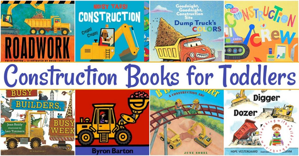 Check out this list of construction books for toddlers! These board books are perfect for toddlers and preschoolers who love trucks and dirt.